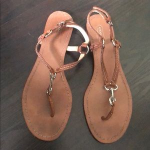 Coach Sandals Gently Used